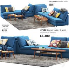 Sofa Ikea Kivik 6                                      3D Model