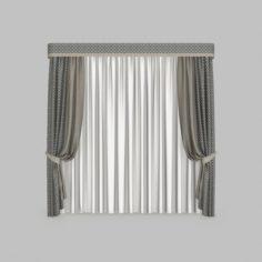 Curtains1 3D Model