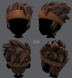 3D Hair style for boy V25 3D Model