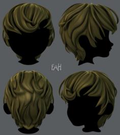 3D Hair style for boy V24 3D Model