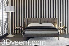 Double Bed 3d Model