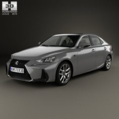 Lexus IS XE30 200t F Sport 2017 3D Model
