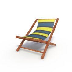 Sunbed Beach Model 3D Model