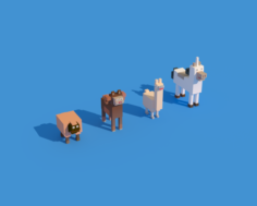 Low Poly Animals 3D Model