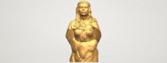 Bust of a girl 02 3D Model