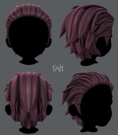 3D Hair style for boy V23 3D Model