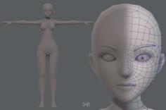 Base mesh woman 07 3D Model