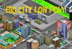 Low Poly city cartoon 3D Model