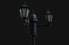 Street Lamp Low-Poly 3D Model