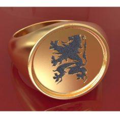 Flanders Lion ring 3D Model