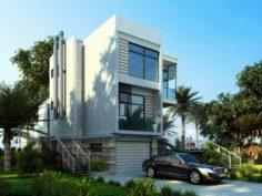 Cottage House Villa 3D Model
