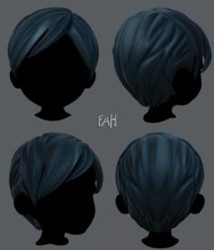 D Hair style for boy V18 3D Model