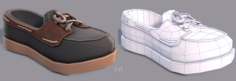 3D Shoes cartoonV09 3D Model