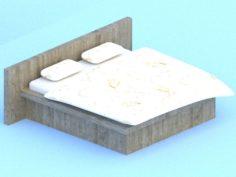 Bed model 2 3D Model