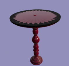 Old wooden Coffee table 3D Model