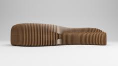 Parametric wooden bench 3D Model
