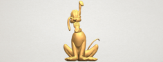 Dog Cartoon 01 -Pluto 3D Model