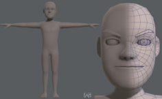 Base mesh man character V03 3D Model