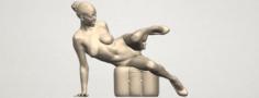 Naked Girl B04 3D Model