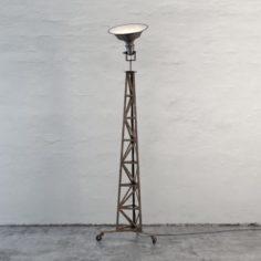 Domed Floor Lamp 3D Model