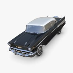 Chevrolet Bel Air 1957 black 3D Model