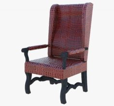 Furniture Leather Arm chair 3D Model