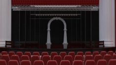 Concert hall scene 3D Model
