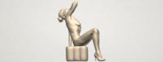Naked Girl B06 3D Model