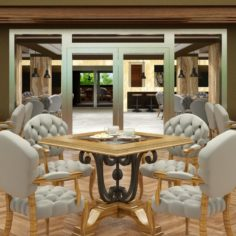 Restaurant Interior 04 V2 3D Model