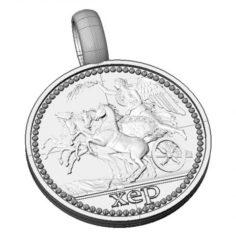 Greek coin pendant 3D Model