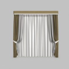 Curtains 2 3D Model