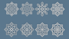 Collection of Arabic ornaments 3D Model