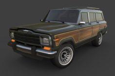 1991 Jeep Wagoneer 3D Model