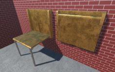 Hidden Table 1 Metal 1 3D Model