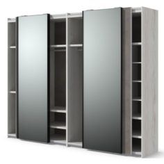 Closet with mirror 3D Model