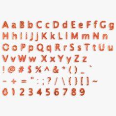 3D Low Poly Letters 3D Model