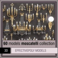 Moscatelli collection 60 items 3D Model