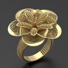 Flower ring 2 3D Model