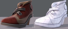 Shoes cartoonV07 3D Model