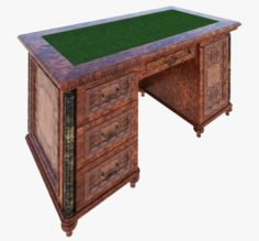 Luxury writing table 3D Model