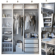 Wardrobe with filling                                      3D Model