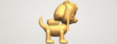 Dog Cartoon 02 3D Model