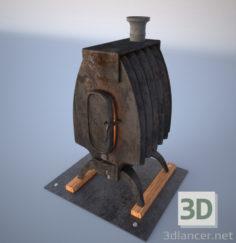"3D-Model  Stove, heater (such as ""burzhuyki""), steel, iron"