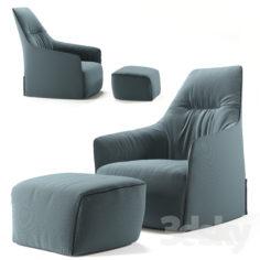 Armchair POLIFORM Santa Monika Lounge                                      3D Model