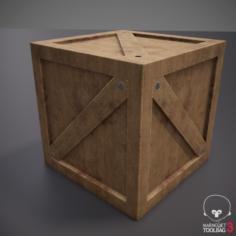 Rustic Wooden Crate Box 3D Model