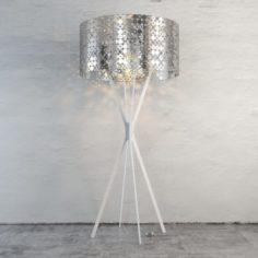 Cylindrical Plafond Floor Light 3D Model