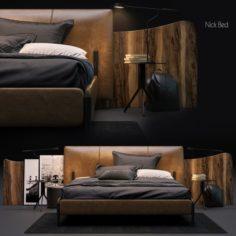 Nick Bed 3D Model