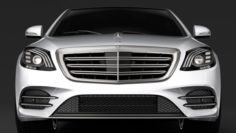 Mercedes Benz S 560 Lang 4MATIC AMG Line V222 2018 3D Model