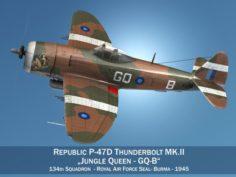 Republic P-47D Thunderbolt MKII – Jungle Queen 3D Model