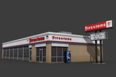 Firestone Complete Auto Service Building 3D Model